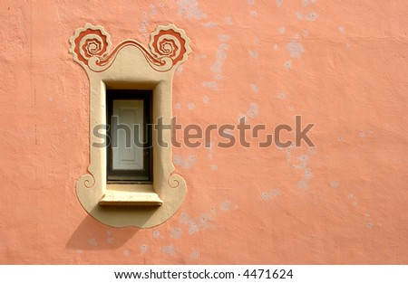 Detail of a window of Gaudi's house inside the Park Guell in Barcelona, now Gaudi's Museum