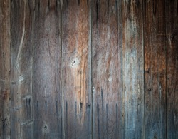 detail of  aged knotty wooden panels