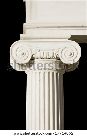 Detail of an ancient Greek pillar of ionic order