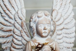 Detail of an angel statue