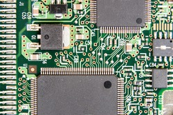 Detail of an electronic circuit board