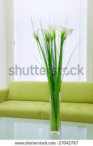 Detail of an elegant waiting room