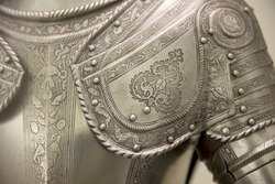 Detail of an european medieval armor