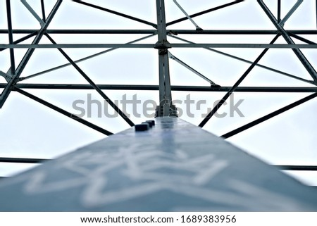 Detail of an industrial scaffolding.
