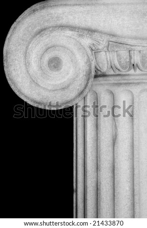 Detail of an Ionic column