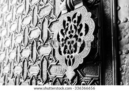 detail of an islamic door...