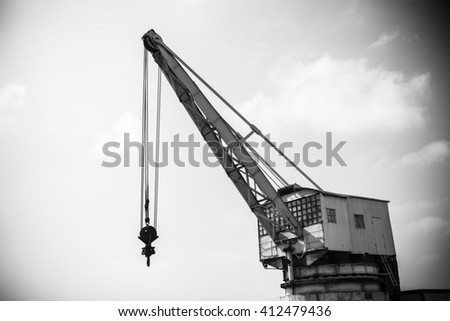 detail of an old port crane...
