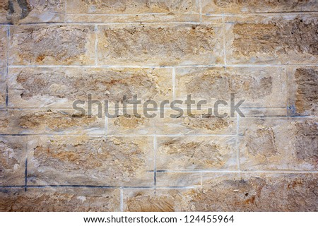 Detail of an old sandstone wall.