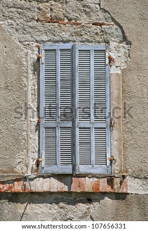 Detail of an old window, Corsica, France