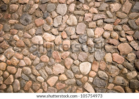 Detail of ancient stone wall