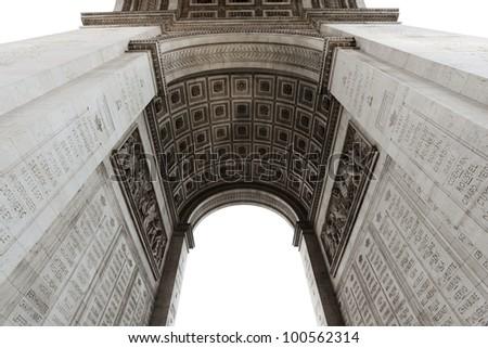 Detail of Arc de Triomphe aka Arch of Triumph, Paris, France.