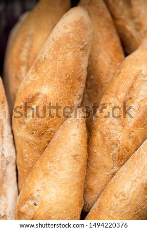 Detail of artisan gluten free loaf of bread