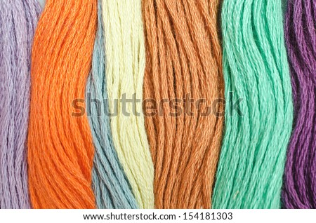 Detail of beautiful colored wools ,can be used for background #154181303