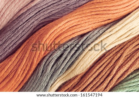 Detail of beautiful colored wools ,can be used for background