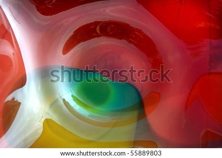 Detail of beautiful hand-blown glass bowl