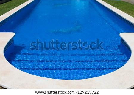 detail of beautiful swimming pool