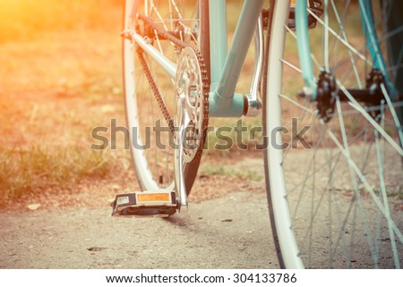 detail of bicycle #304133786