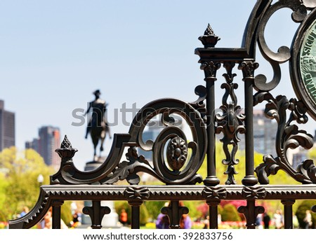 detail of boston public garden...