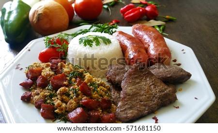 Detail of brazilian food dish