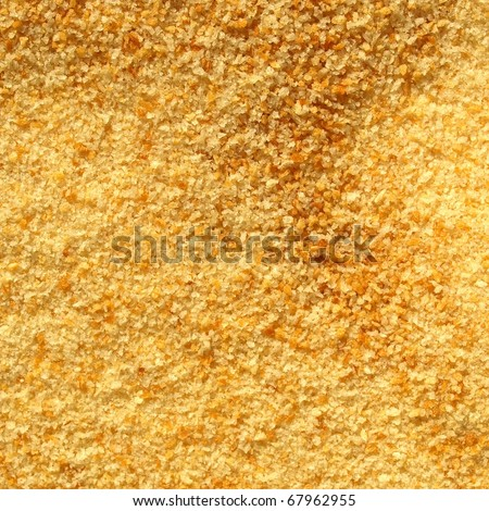 Detail of breadcrumbs useful as a background