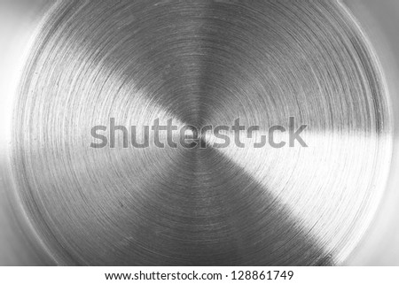 detail of brushed metal texture