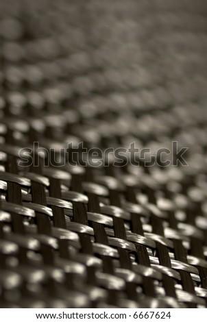 Detail of carbon fiber weave.