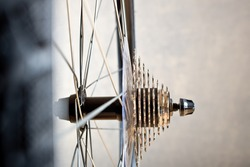Detail Of Change- Speed And Chain Of New Bicycle