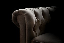 detail of classic upholstered furniture