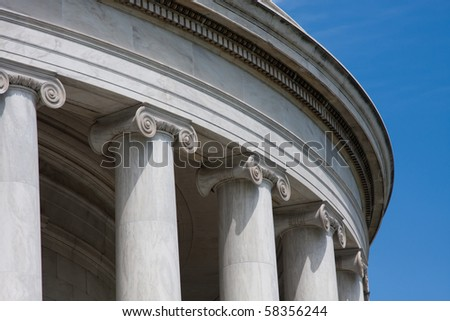 Detail of Classical Architecture Column and Frieze