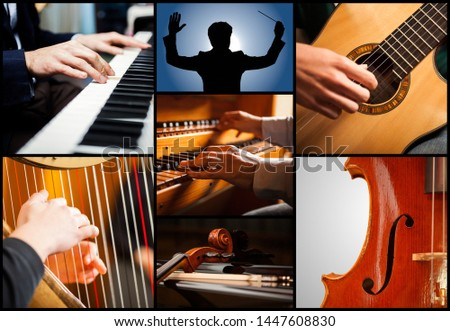 Detail of classical musical instruments #1447608830