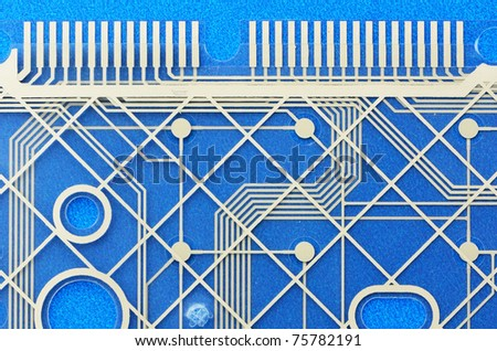 Detail of computer circuit boards and pathways