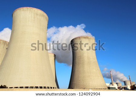 detail of cooling towers of nuclear power plant