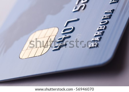 detail of credit card
