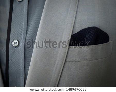 Detail of elegance grey jacket #1489690085