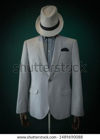 Detail of elegance grey jacket #1489690088
