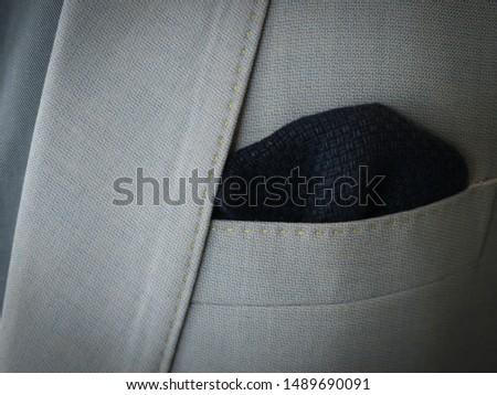 Detail of elegance grey jacket #1489690091