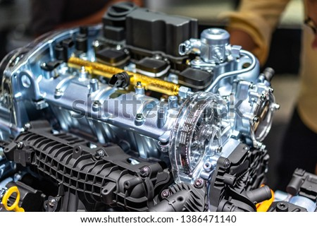 detail of engine in car #1386471140
