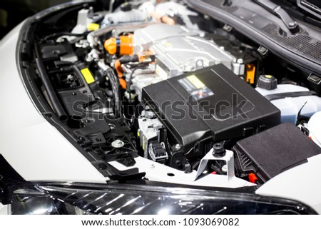 Detail of engine of electric car #1093069082