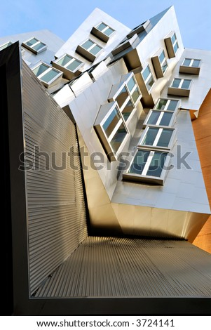 Detail of Frank O Gehry Stata Center building at the Massachusetts Institute of Technology in Cambridge, Massachusetts