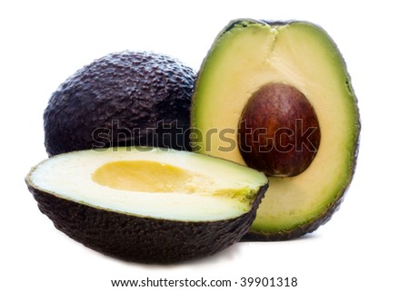 detail of fresh avocado and natural open