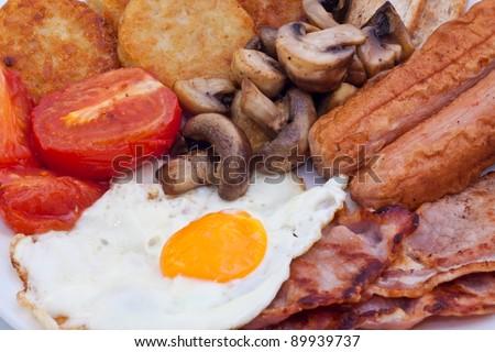 Detail of full English Breakfast