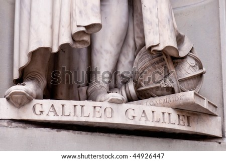 Detail of Galileo sculpture in Florence