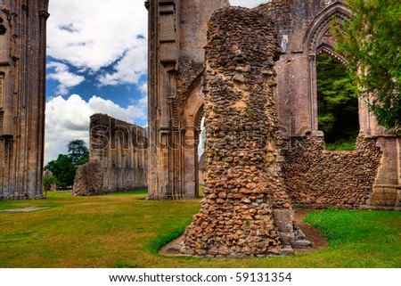 Detail of Glastonbury Abbey