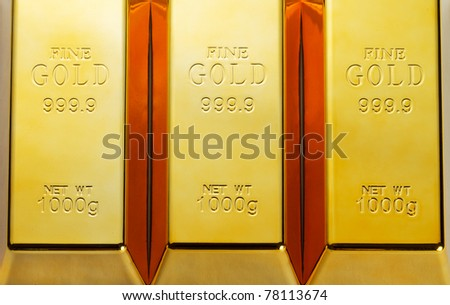 Detail of gold bars