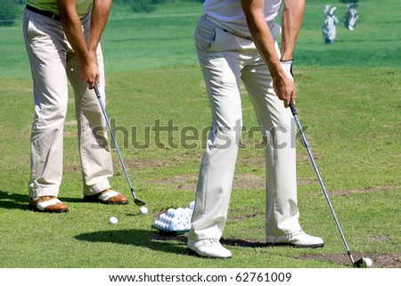 detail of Golfers