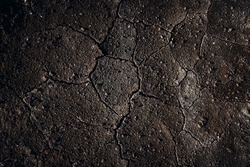 Detail of ground cracking texture.Climate change and environmental disaster.Drought and rainfall shortage.Weather and meteorological predictions.Agricultural ecosystem challenges.Cracked Earth
