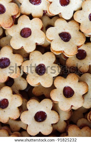 Detail of group of gluten free Christmas confectionery with marmalade