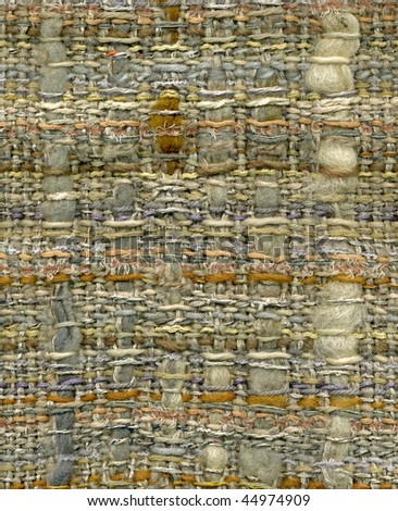 Detail of hand woven fabric, extra rich texture, high resolution