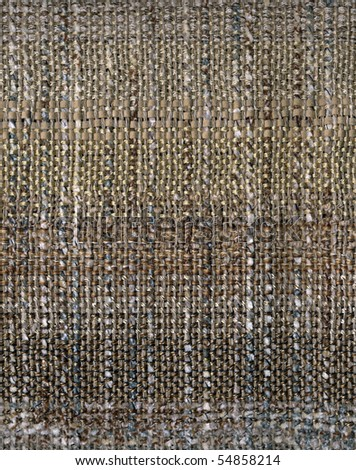 Detail of hand woven rich textured fabric