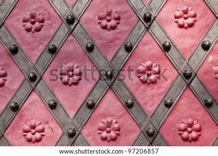Detail of historic door in Prague, Czech republic